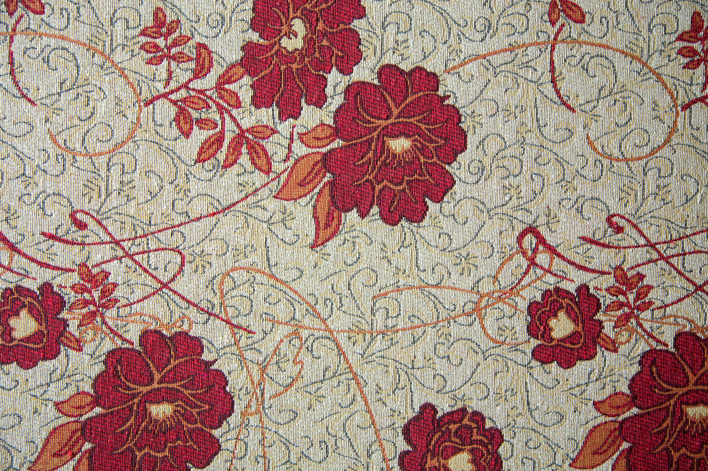 Vintage luxury flower fabric upholstery, texture background